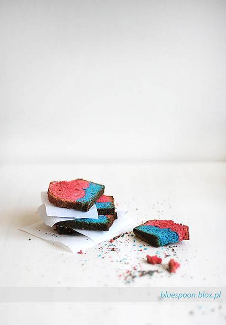 przepis na dwukolorowe ciasto - blue spoon blog