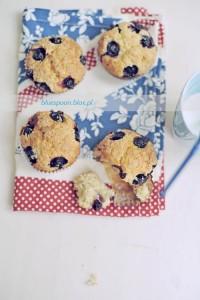 przepis na muffinki z borówkami