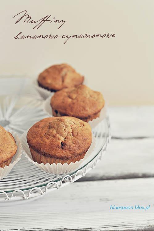 muffinki bananowo-cynamonowe - przepis i zdjęcia