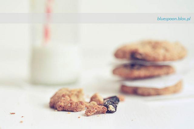 przepis na najlepsze ciasteczka owsiane z rodzynkami