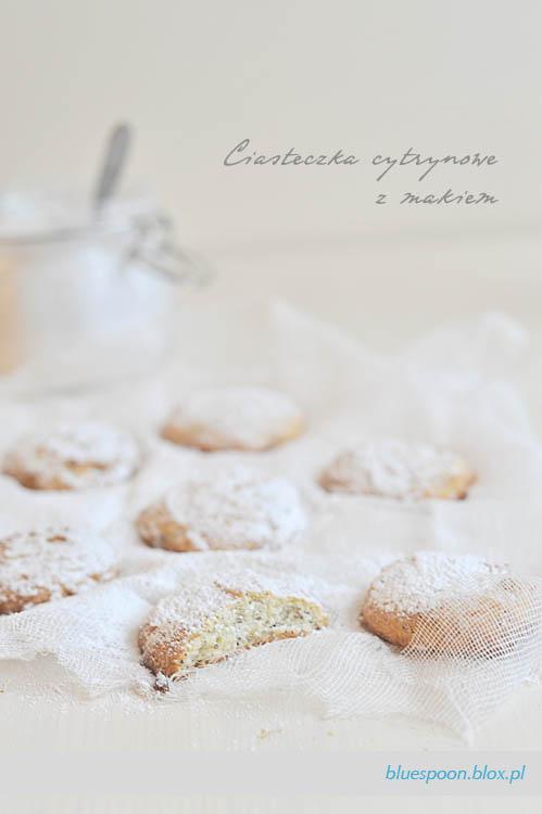 cytrynowe ciasteczka z makiem - przepis i zdjęcia