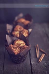 muffiny cynamonowe na drożdżach - przepis