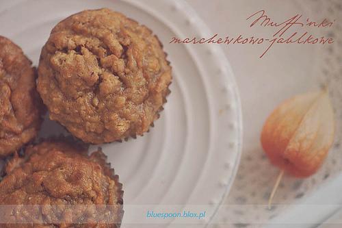 łatwy przepis na muffinki marchewkowe z jabłkiem
