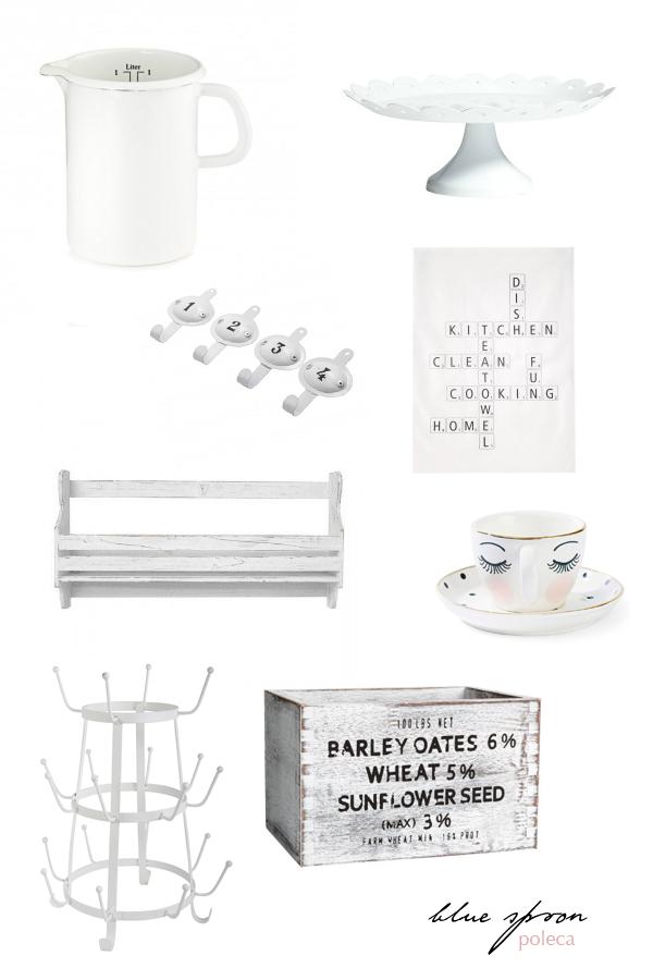 białe akcesoria do kuchni