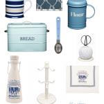 Biało-niebieskie dodatki kuchenne