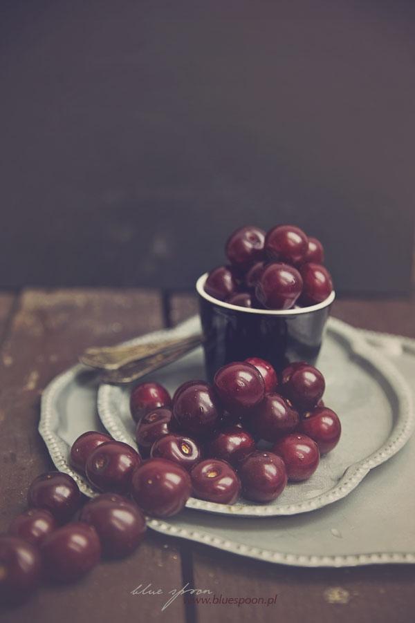 fotografia kulinarna - wisnie